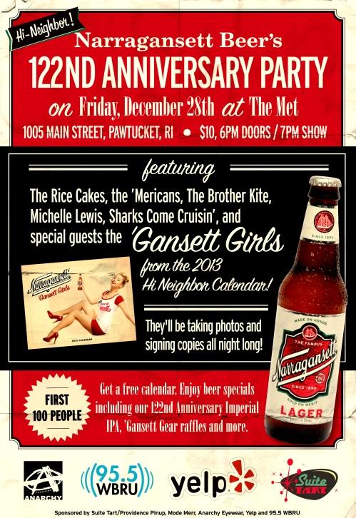 Gansett 122nd Anniversary Show Poster