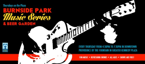 the 'Mericans play the Burnside Park Beer Garden Music Series in Downtown Providence on Thursday 29th August 2013