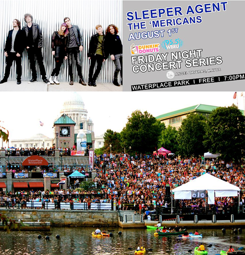the 'Mericans play the WBRU Summer Concert Series at Waterplace Park with Sleeper Agent on Friday 1st August 2014 Free Show